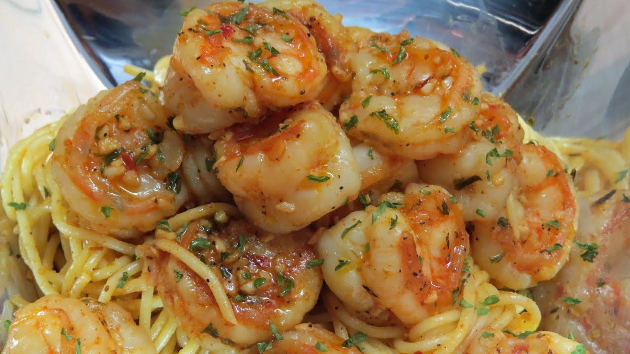 Easy Shrimp Pasta  QUICK & EASY SPICY GARLIC SHRIMP & PASTA