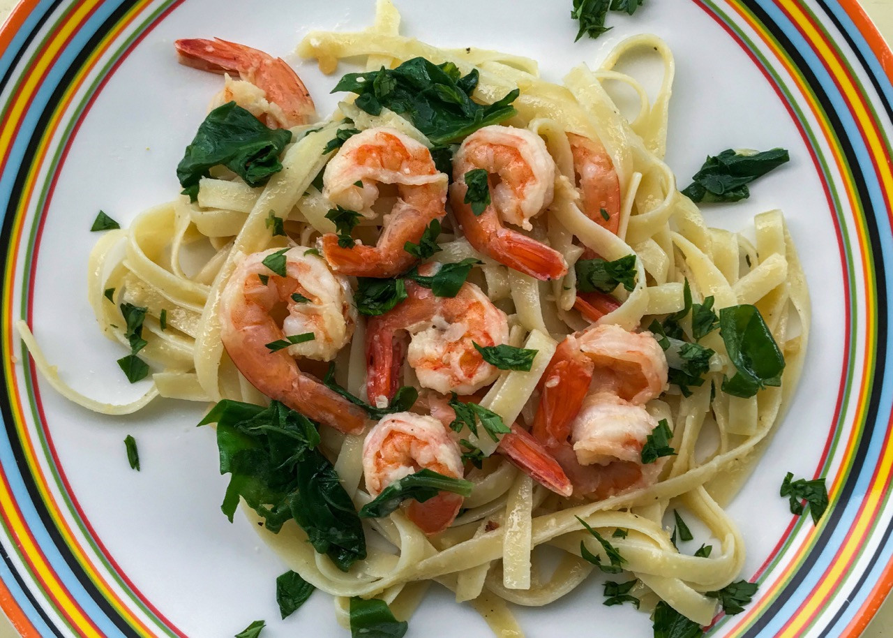 Easy Shrimp Pasta  This Quick and Easy Shrimp Pasta Dinner is on the Table in