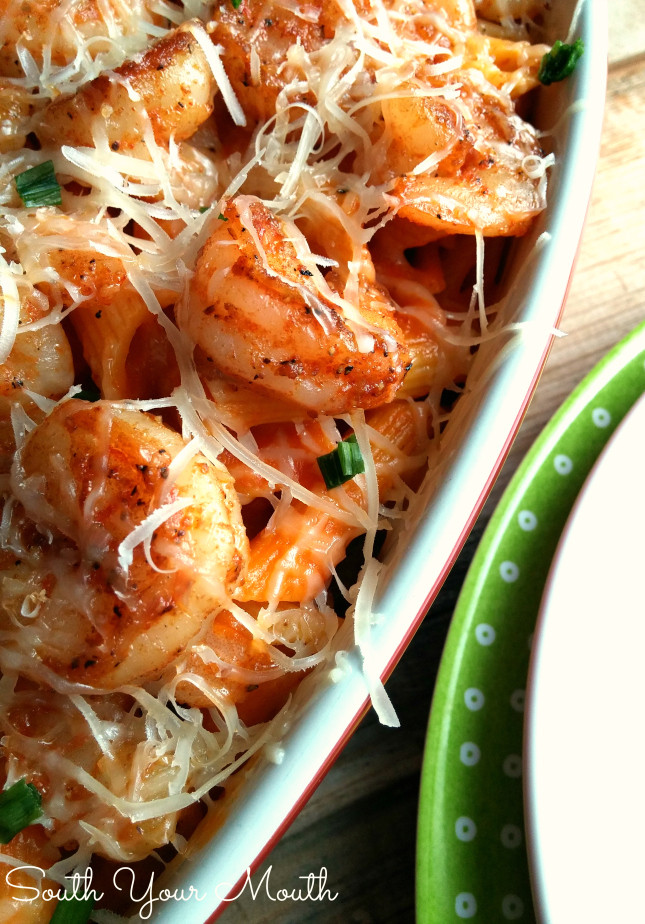 Easy Shrimp Pasta  South Your Mouth Easy Shrimp with Pasta