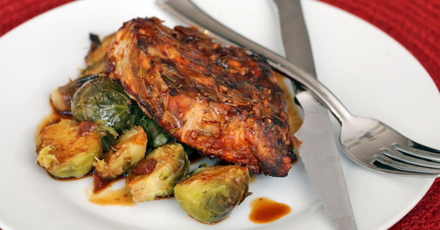 Easy Slow Cooker Pork Chops  Simple Slow Cooker Pork Chops and Brussel Sprouts