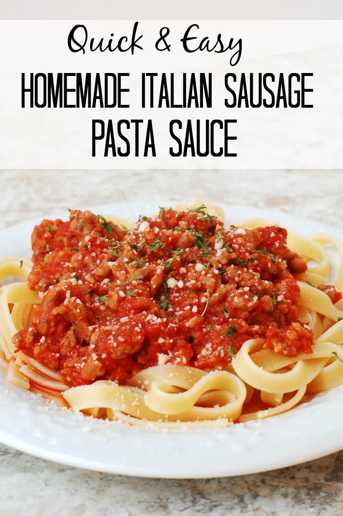 Easy Spaghetti Sauce Recipe  italian pasta sauce