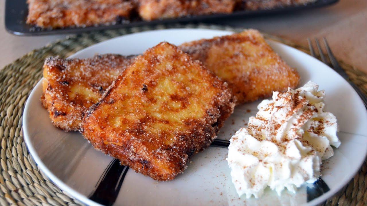 Easy Spanish Dessert Recipes  Fried Milk Leche Frita Easy Spanish Dessert Recipe