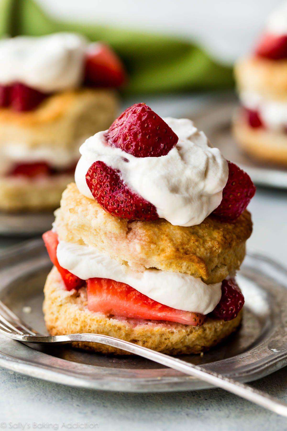 Easy Strawberry Shortcake Recipe  Easy Homemade Strawberry Shortcake Sallys Baking Addiction