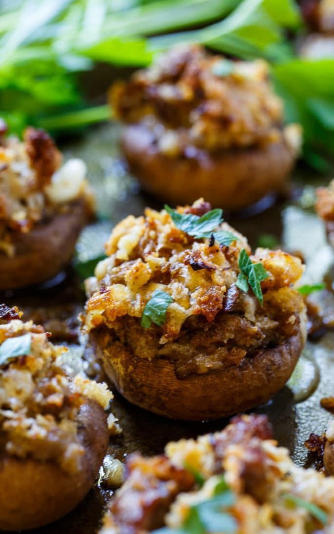 Easy Stuffed Mushroom Recipe  easy stuffed mushrooms with sausage