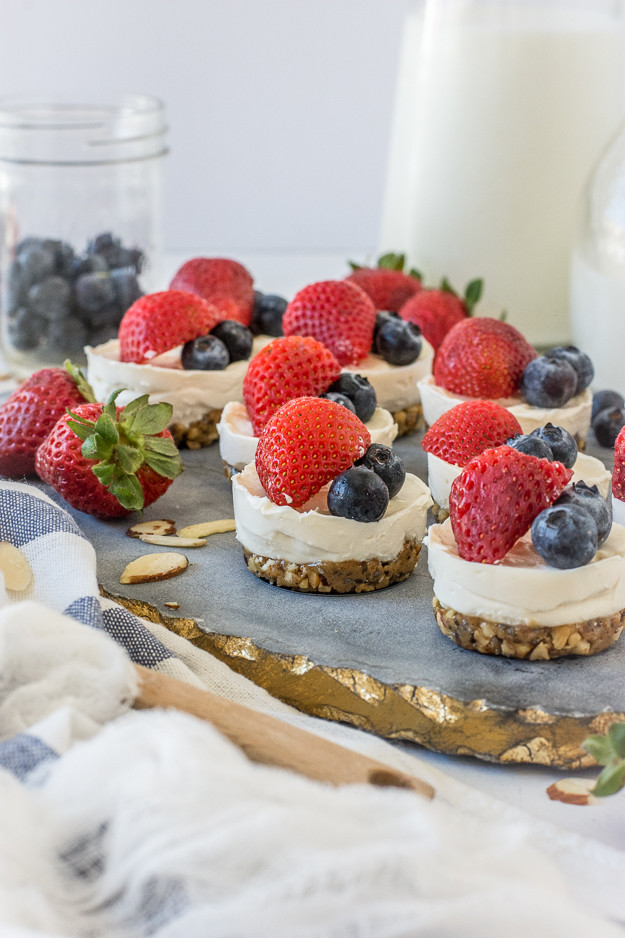 Easy Summer Desserts With Few Ingredients  Simple 4 Ingre nt No Bake Mini Cheesecakes Gluten Free