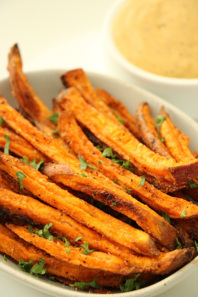 Easy Sweet Potato Fries  Easy Oven Baked Sweet Potato Fries with Agave Mustard