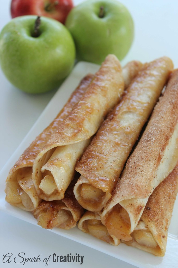 Easy To Make Desserts  Easy Caramel Apple Taquitos A Spark of Creativity