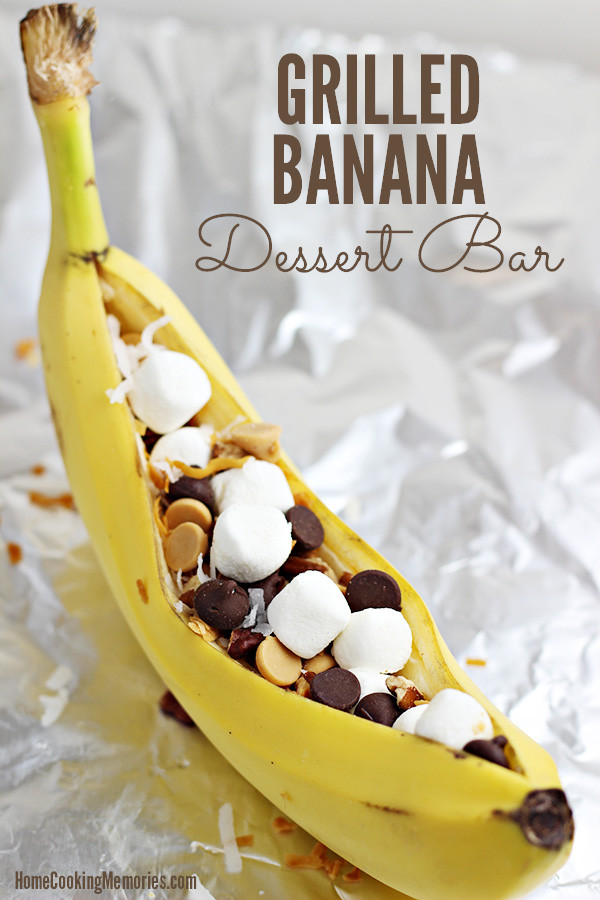 Easy To Make Desserts  Easy Grilled Banana Dessert Bar Idea for Cookouts & Camping