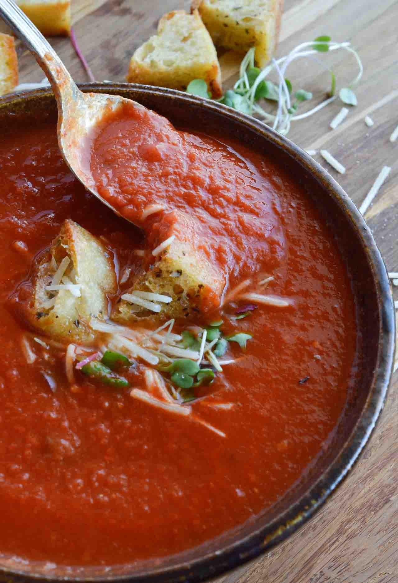 Easy Tomato Soup  Easy Tomato Soup Recipe WonkyWonderful