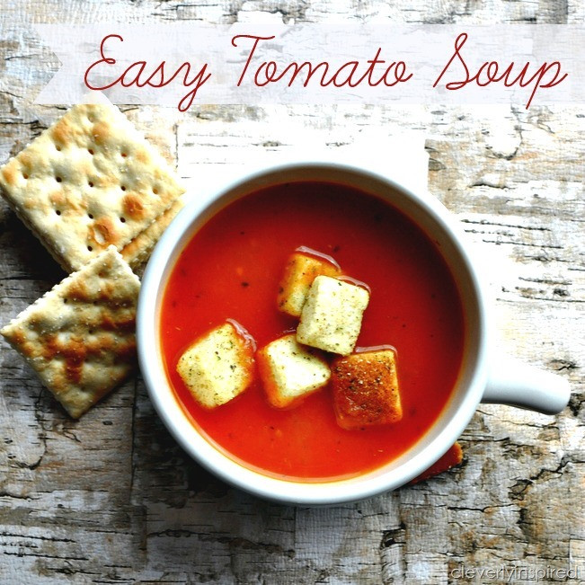 Easy Tomato Soup  simple tomato soup