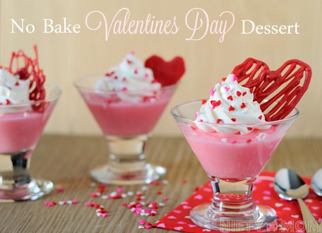 Easy Valentine Desserts  Simple No Bake Valentine s Day Dessert