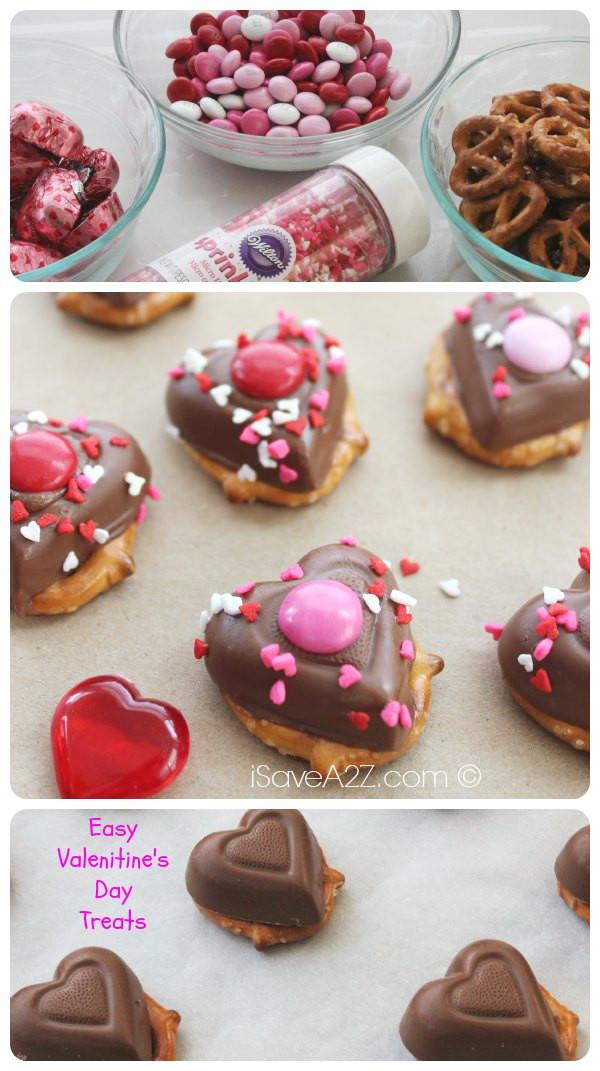 Easy Valentine Desserts  Valentine s Day Chocolate Pretzel Treats iSaveA2Z
