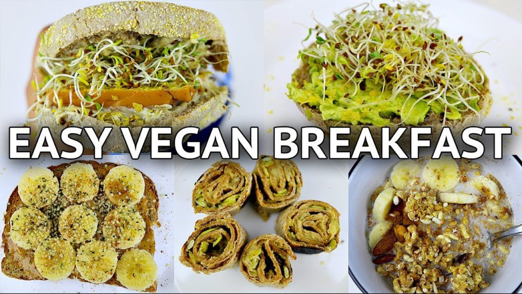 Easy Vegan Breakfast Recipes  5 EASY VEGAN BREAKFAST IDEAS QUICK HEALTHY – Recipes