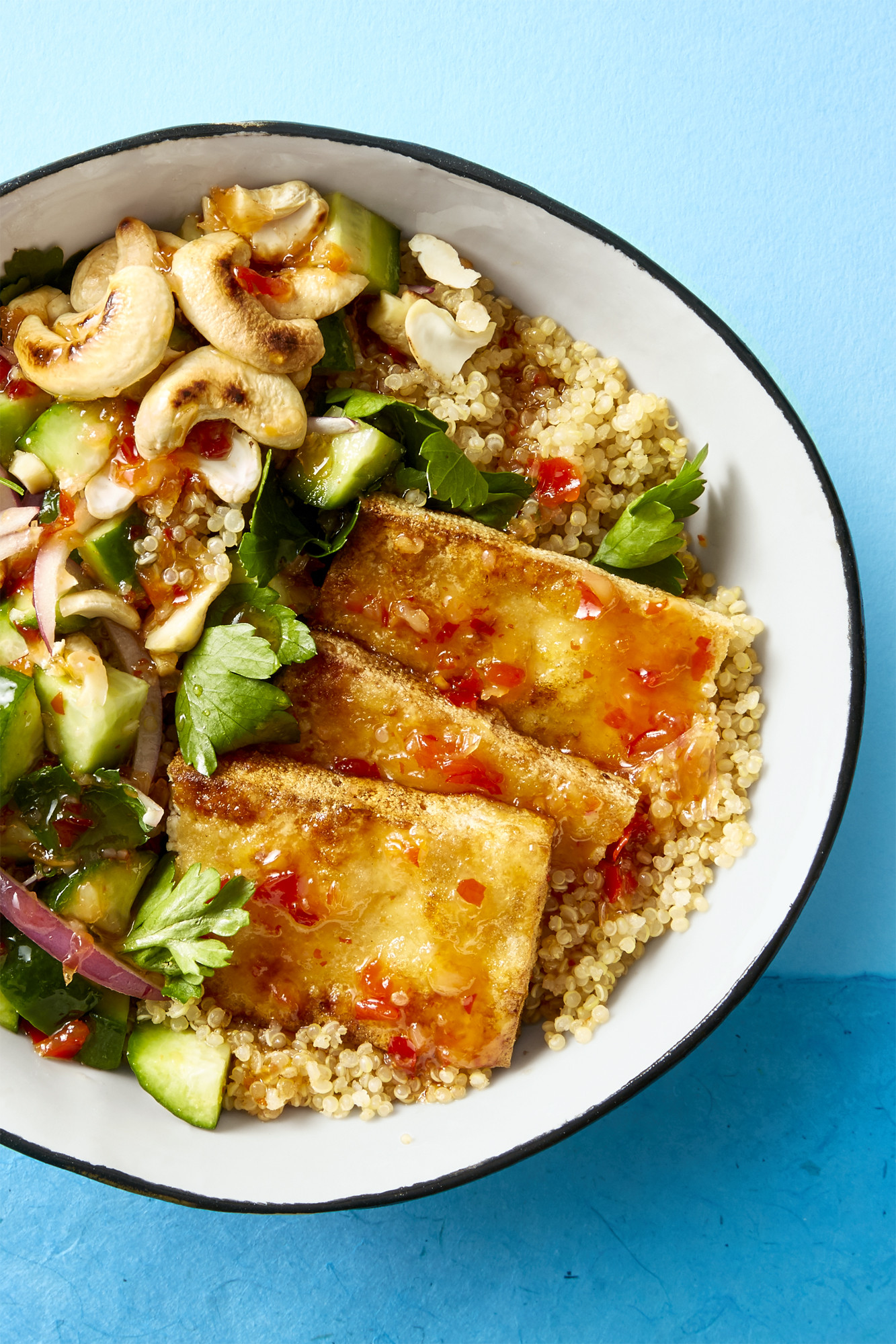 Easy Vegan Dinner  Best Crispy Tofu Bowl Recipe How to Make Crispy Tofu Bowl
