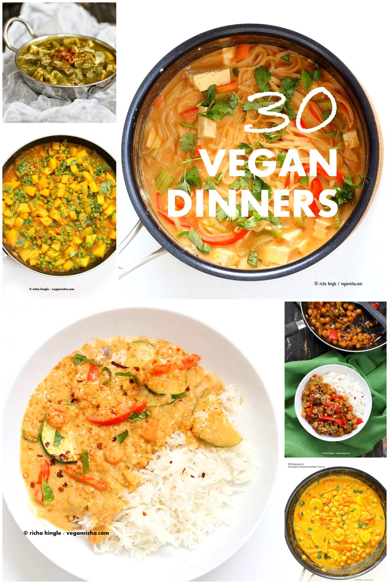 Easy Vegan Dinner Recipes  30 Easy Vegan Dinner Recipes Vegan Richa
