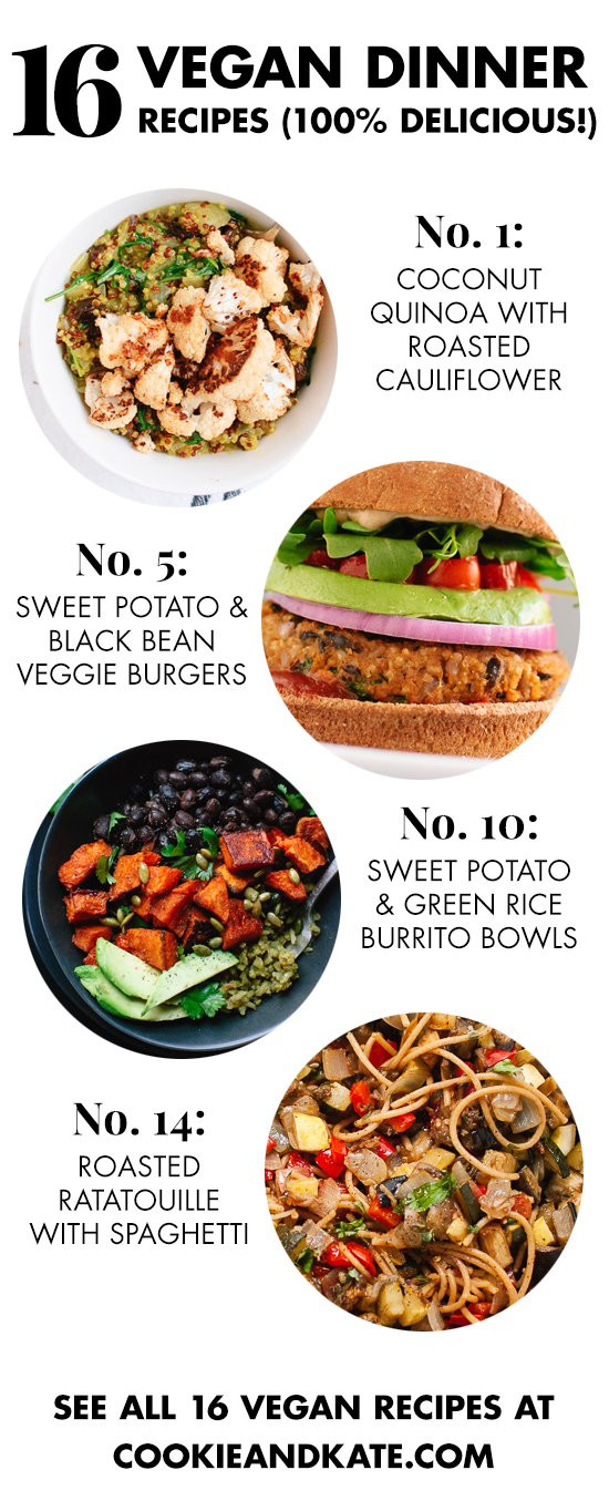 Easy Vegan Dinner Recipes  16 Delicious Vegan Dinner Recipes Cookie and Kate