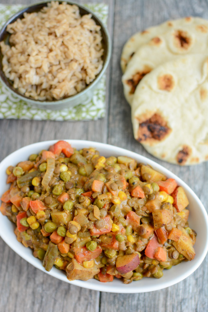 Easy Vegan Dinner  Lentil Ve able Curry Hummusapien