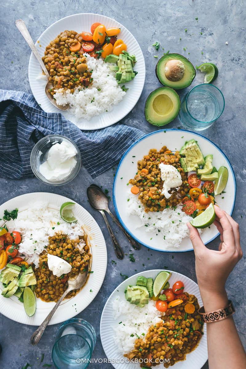 Easy Vegan Recipes  Easy Ve arian Lentil Stew