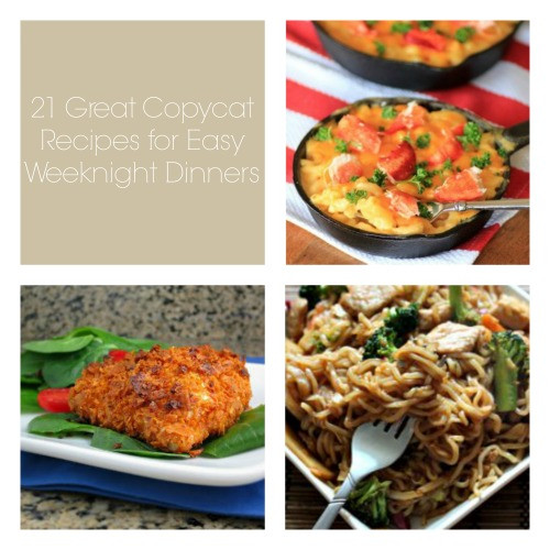 Easy Weeknight Dinners For Two  21 Great Copycat Recipes for Easy Weeknight Dinners