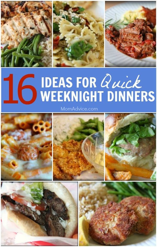 Easy Weeknight Dinners For Two  Main Dishes Articles Food & Recipes MomAdvice