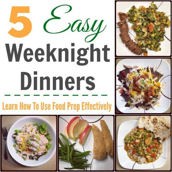 Easy Weeknight Dinners For Two  5 Easy Weeknight Dinners
