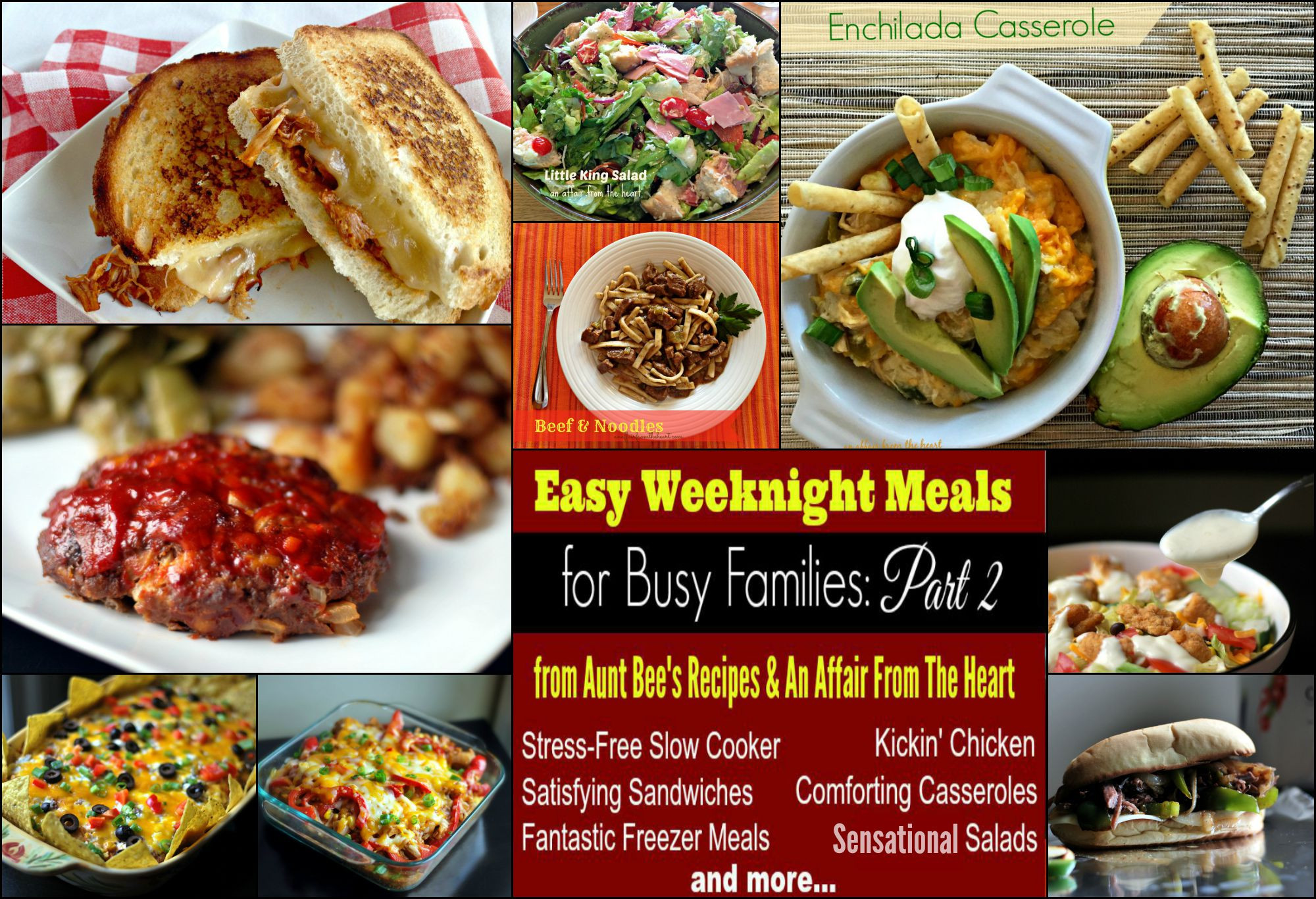 Easy Weeknight Dinners For Two  Easy Weeknight Meals For Busy Families Part 2 Aunt Bee