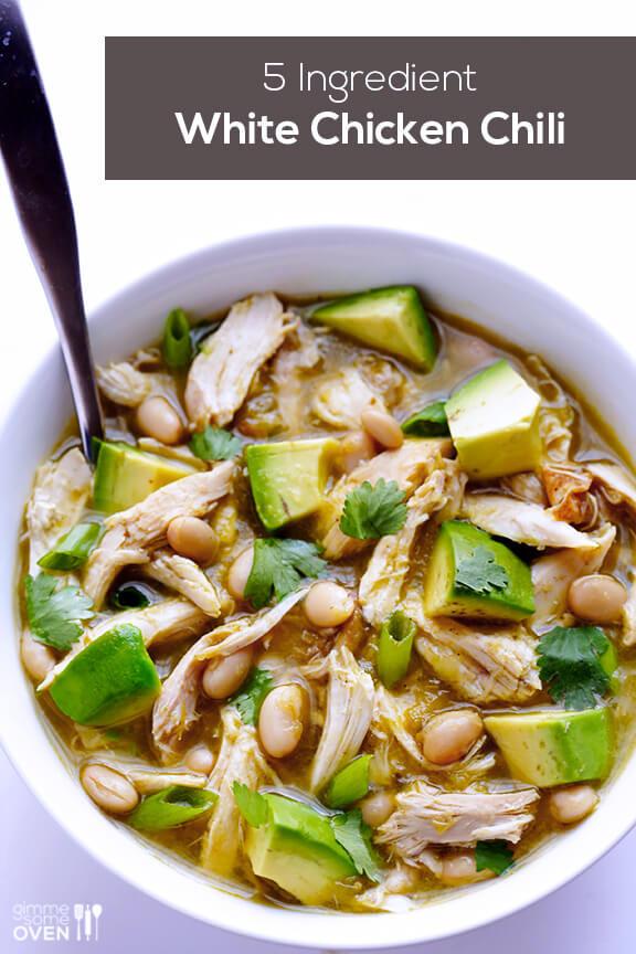 Easy White Bean Chicken Chili  5 Ingre nt Easy White Chicken Chili Recipe
