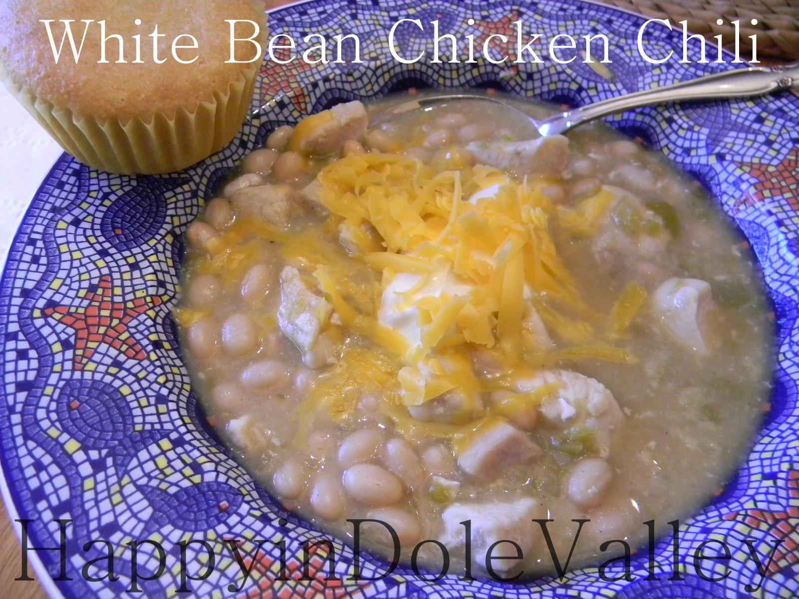 Easy White Bean Chicken Chili  Happy in Dole Valley Quick & Easy White Bean Chicken