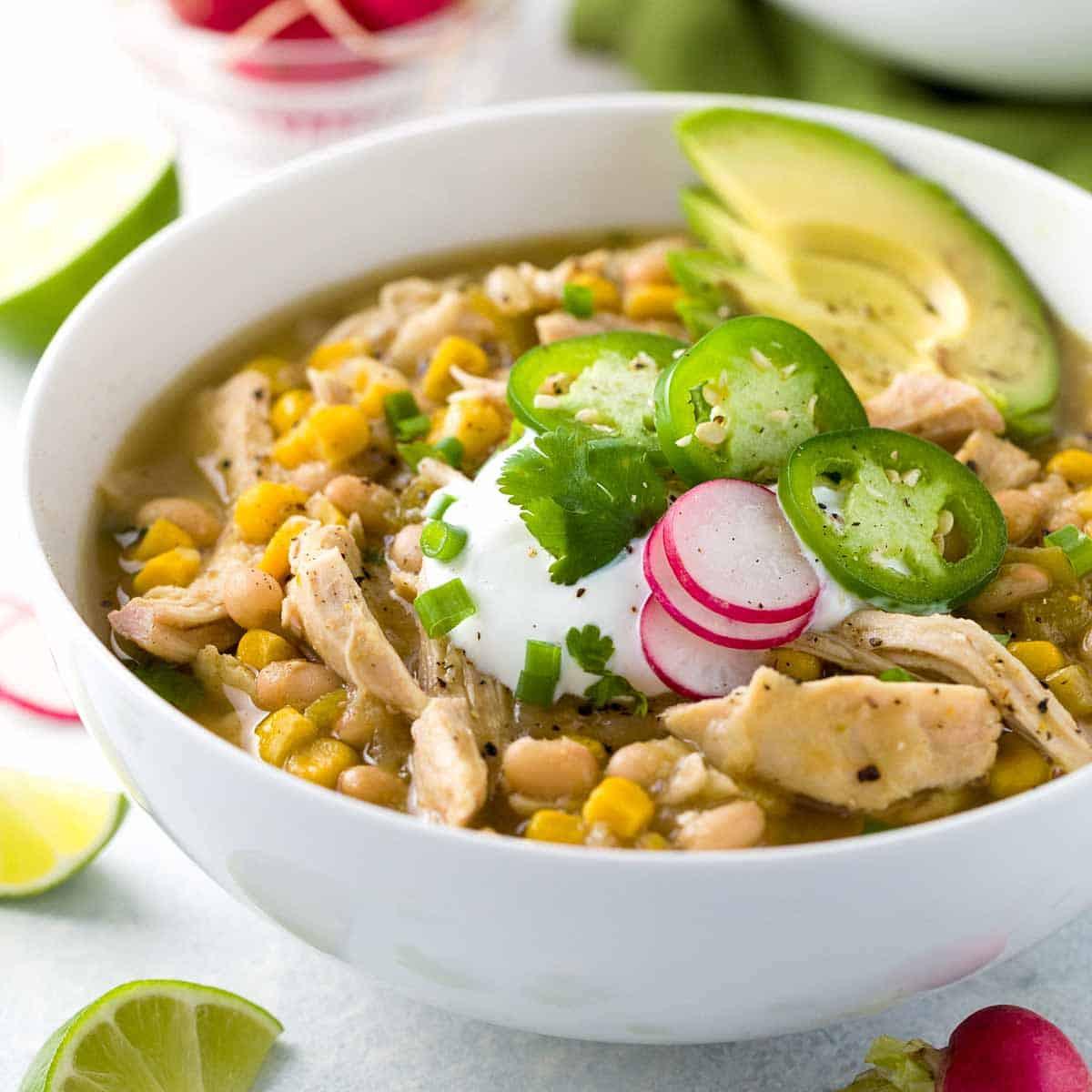 Easy White Bean Chicken Chili  White Bean Chicken Chili Crockpot Recipe