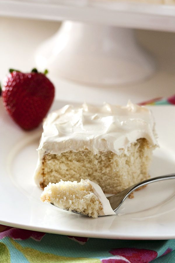 Easy White Cake Recipe  Emergency White Cake • Food Folks and Fun