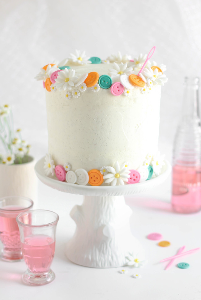 Easy White Cake Recipe  Buttons Birthday Cake Easy White Cake with Vanilla Bean