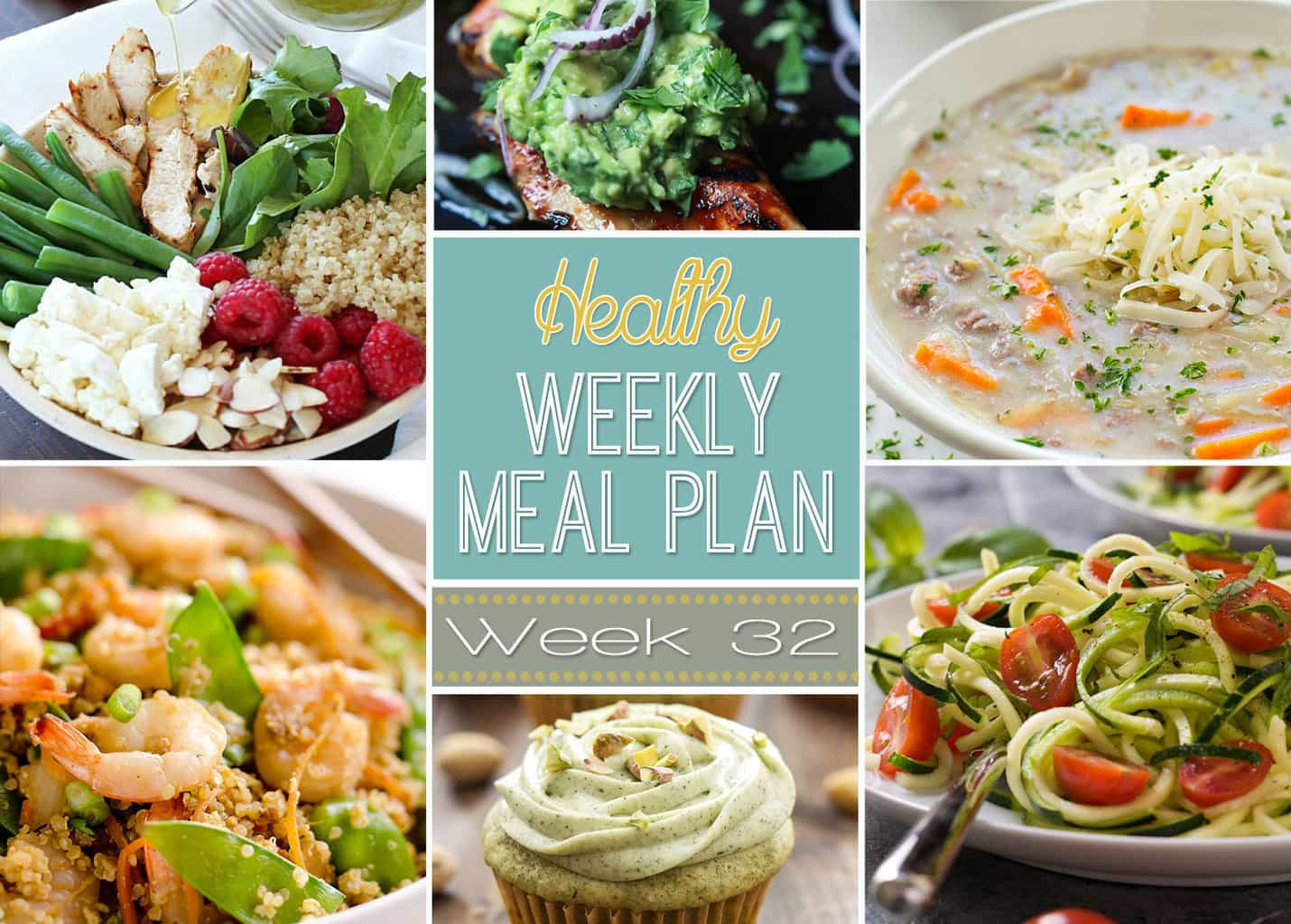 Easy Yummy Dinners  Healthy Weekly Meal Plan 32 Yummy Healthy Easy