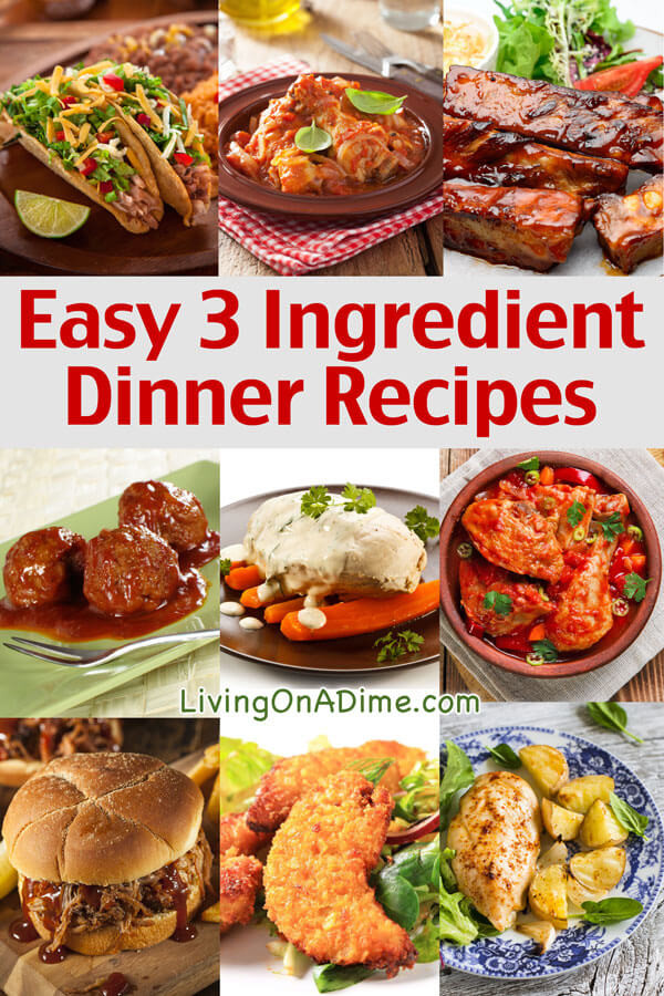 Easy Yummy Dinners  Easy 3 Ingre nt Dinner Recipes Delicious Meals Fast