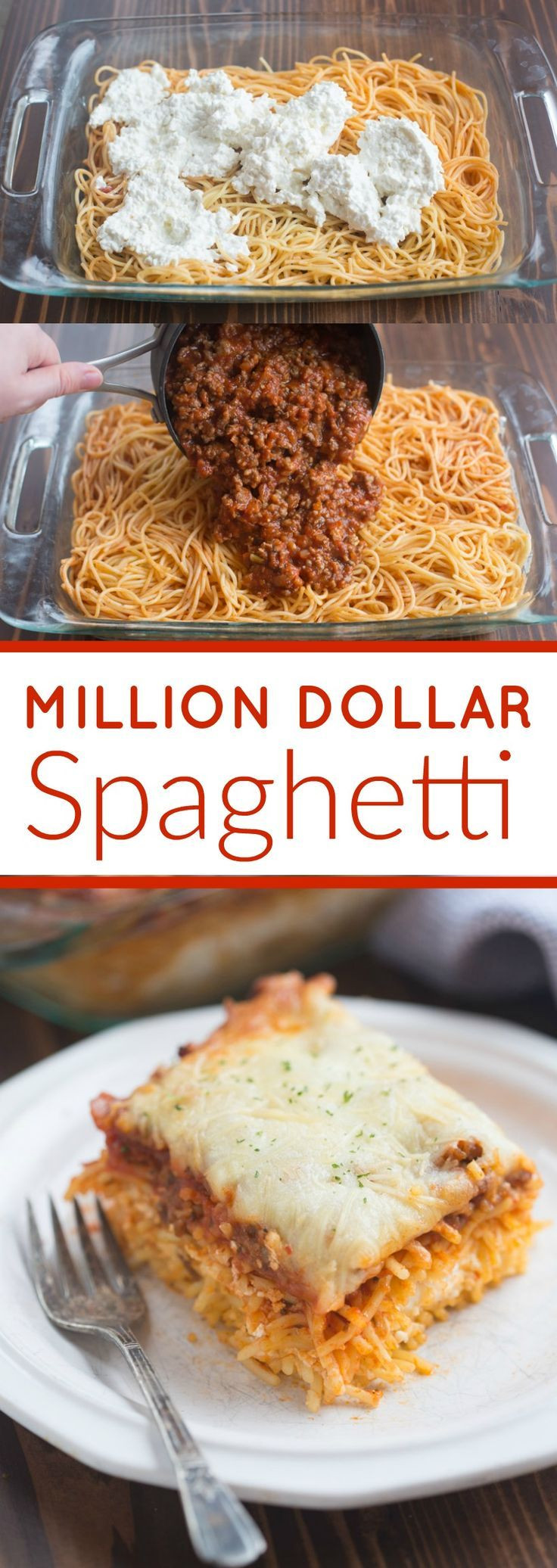 Easy Yummy Dinners  Food Inspiration Million Dollar Spaghetti is a DELICIOUS