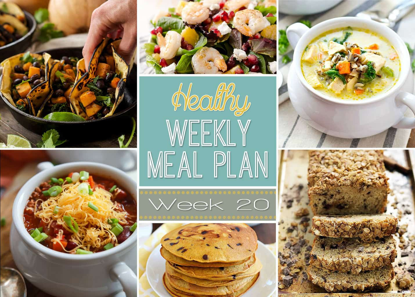 Easy Yummy Dinners  Healthy Weekly Meal Plan 20 Yummy Healthy Easy
