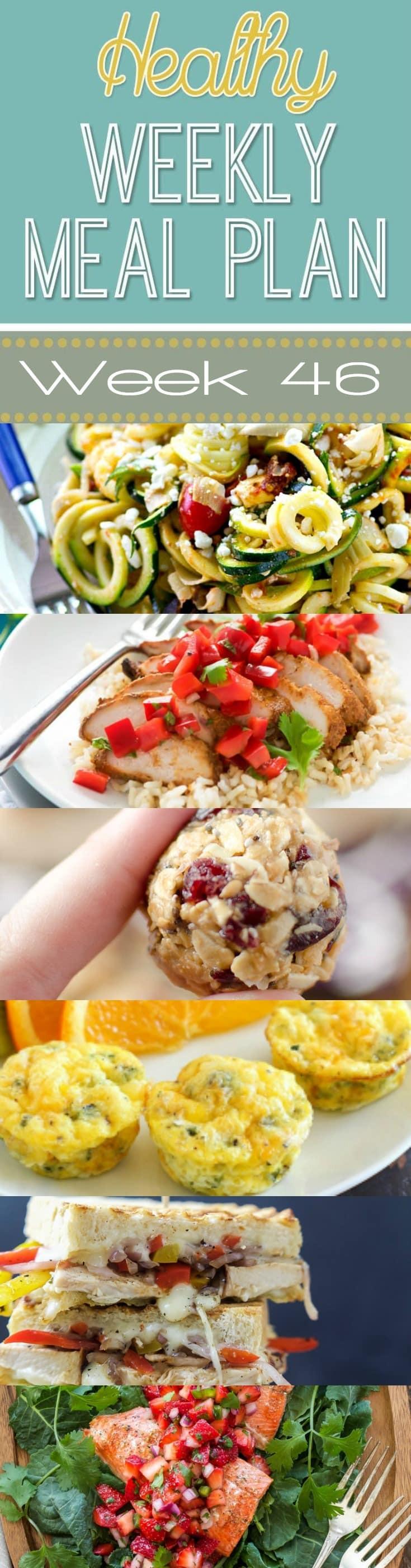 Easy Yummy Dinners  Healthy Weekly Meal Plan 46 Yummy Healthy Easy