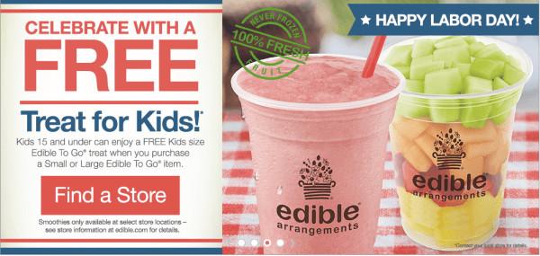 Edible Arrangements Smoothies  Edible Arrangements $10 f $49 Free Smoothie for Kids