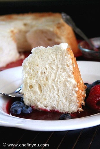 Egg Desserts Recipe  A fat free Cake made from Egg whites with a delicious