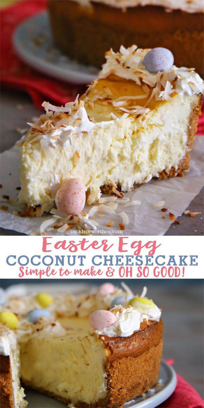 Egg Desserts Recipe  Easter Egg Coconut Cheesecake is a simple & delicious