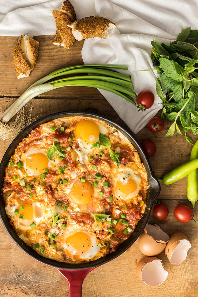 Egg Dinner Recipes  Turkish Egg Dish Menemen Give Recipe