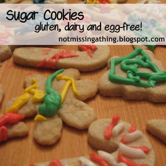 Egg Free Sugar Cookies  Cut Out Sugar Cookies gluten dairy and egg free Recipe