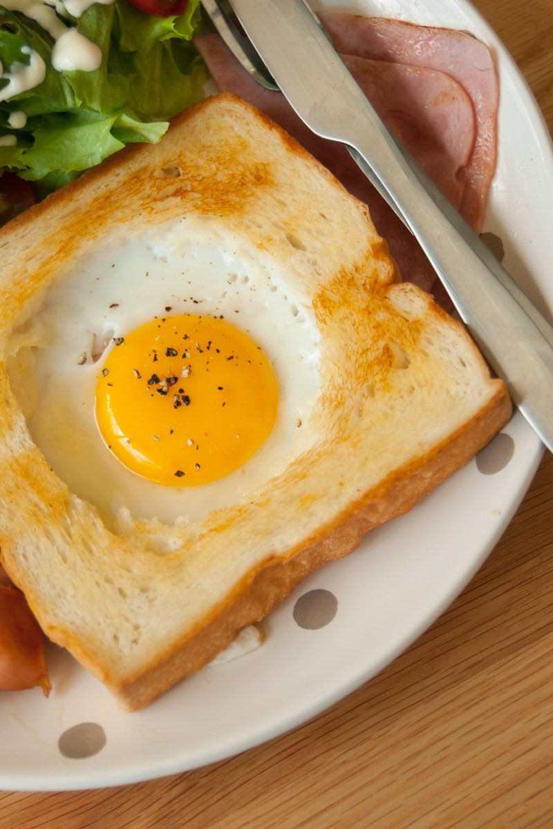Egg In Bread  Egg in a Hole