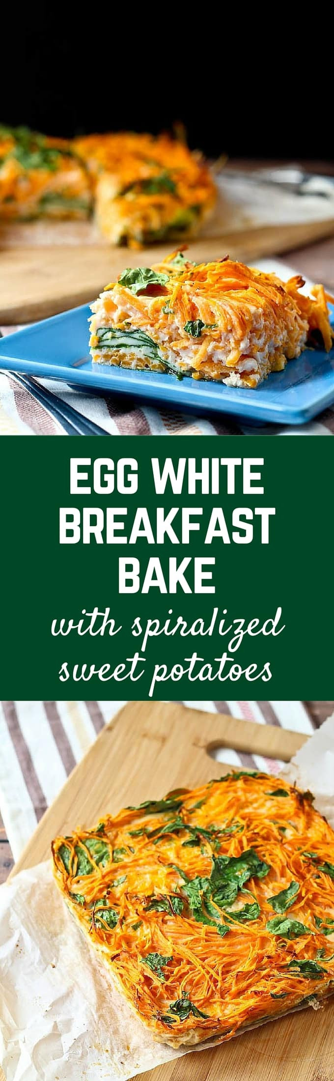Egg Whites Breakfast Recipes  Egg White Breakfast Bake with Sweet Potato and Spinach