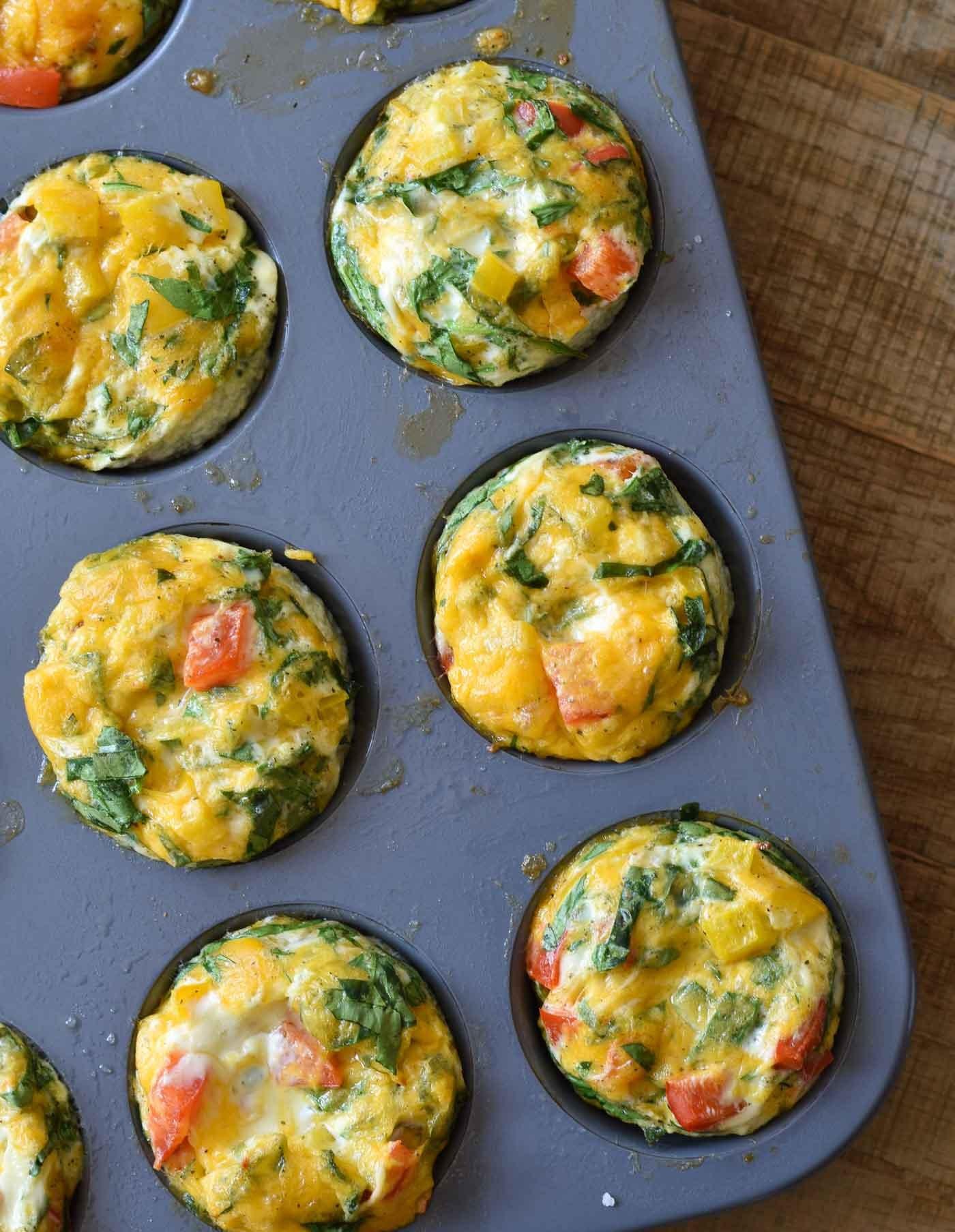 Egg Whites Breakfast Recipes  Healthy Egg White Breakfast Muffins
