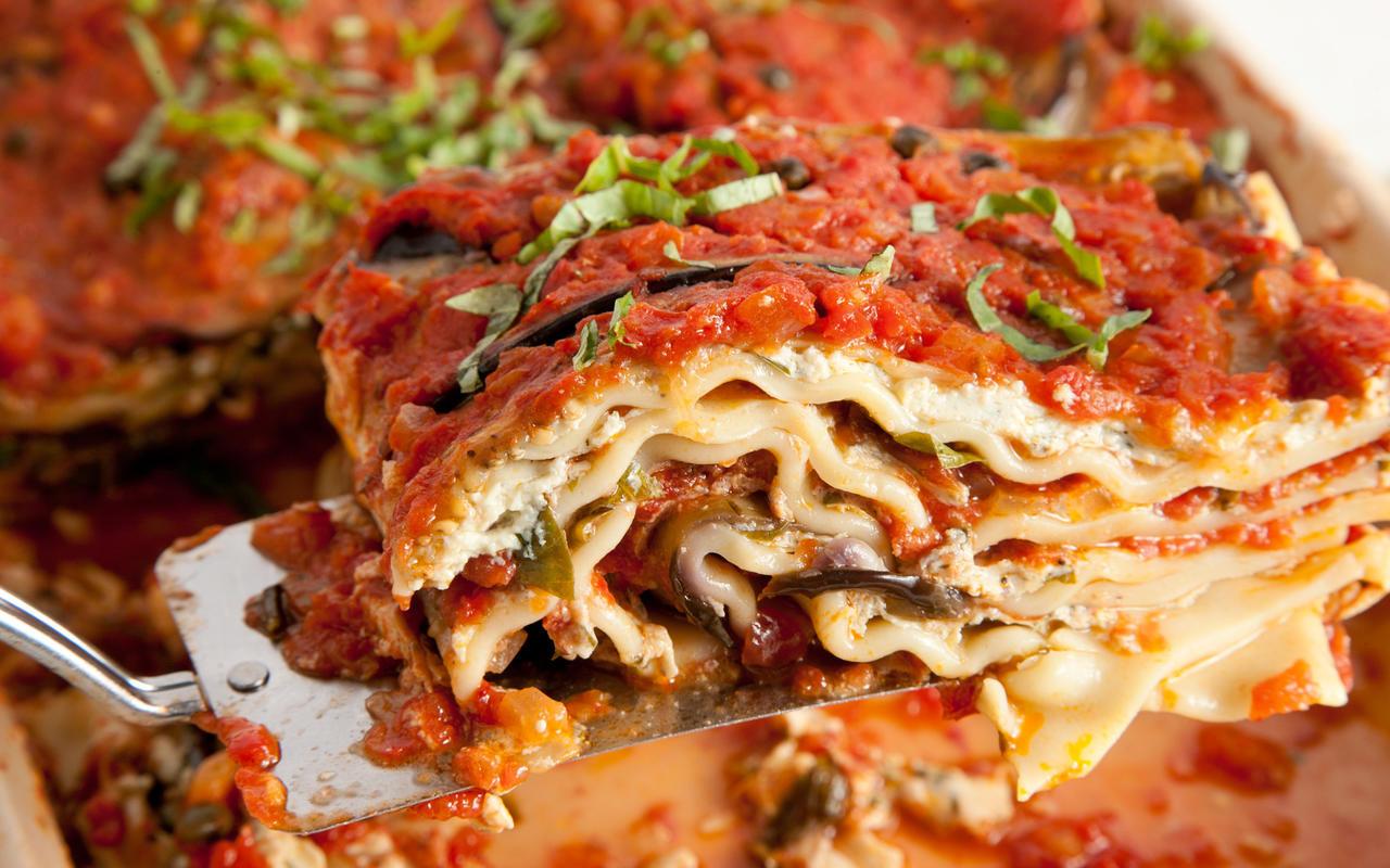 Eggplant Lasagna Vegan  Vegan Lasagna Recipe Chowhound