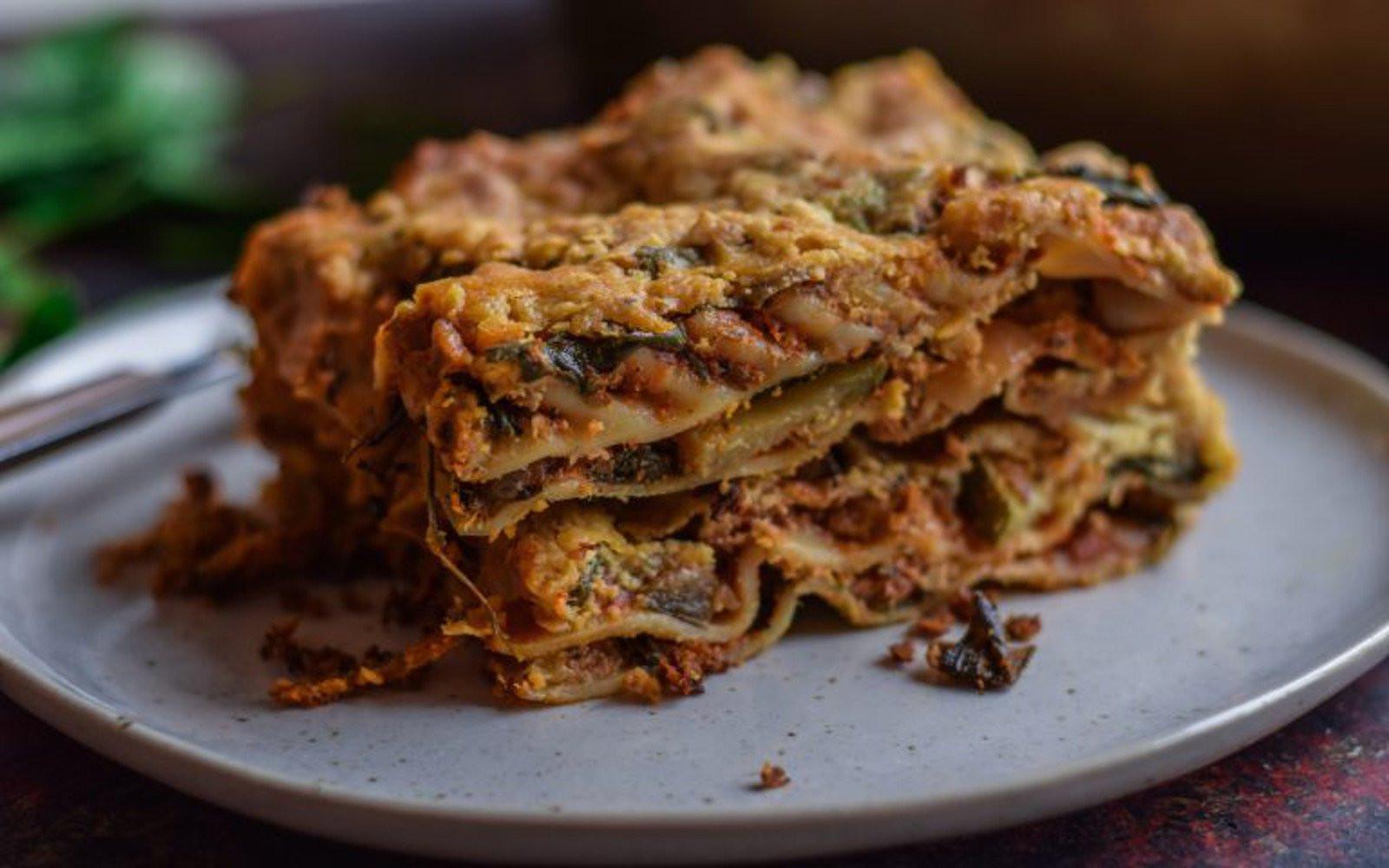 Eggplant Lasagna Vegan  Zucchini and Eggplant Lasagna [Vegan Gluten Free]