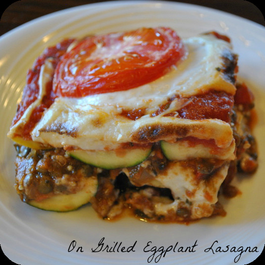 Eggplant Lasagna Vegan  Lentil Quinoa Bolognese Sauce from The Great Vegan Bean