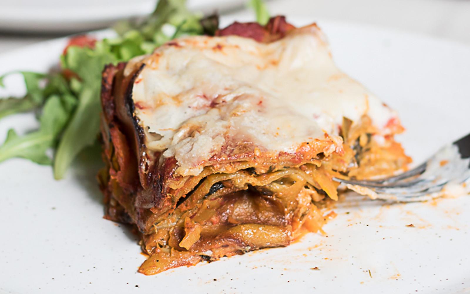Eggplant Lasagna Vegan  Tomato Eggplant Lasagna With Cashew Mozzarella [Vegan