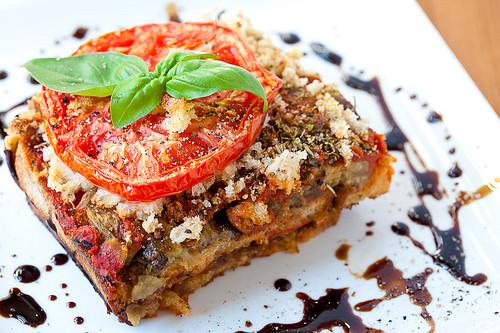 Eggplant Lasagna Vegan  meatless monday csr business rustic bread eggplant lasagna