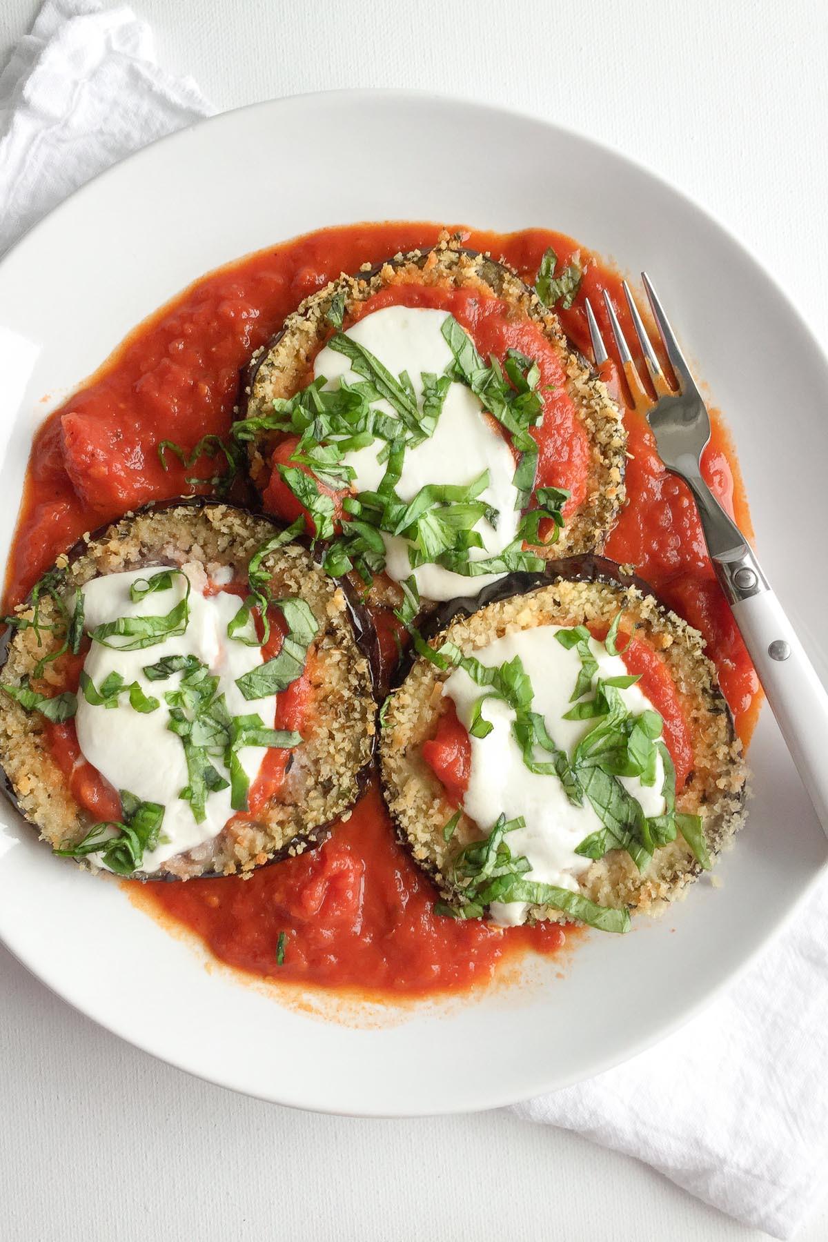 Eggplant Parmesan Healthy  Healthy Baked Eggplant Parmesan Recipe